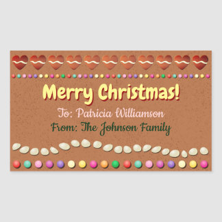 Customized Xmas Gift Label - Gingerbread Cookie