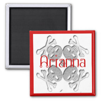 customized your name skull and crossbones magnet
