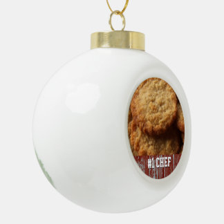 Customized Yummy Sugar Cookies Baking #1 Best Chef Ceramic Ball Christmas Ornament