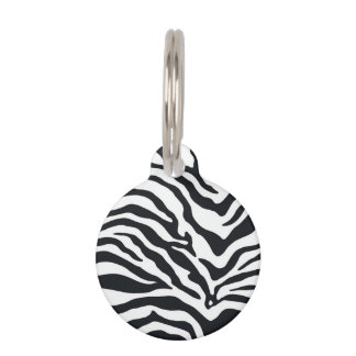 Customized Zebra Animal Print Small Pet Tag