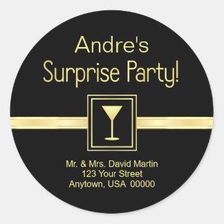 Customn Address Labels - Surprise Party