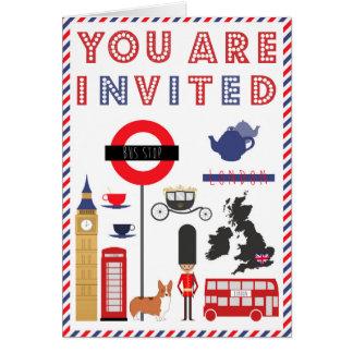 Custon Iconic London Trip Invitation Card
