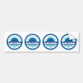 Cut-apart 4-up Circle Logo Bumper Stickers