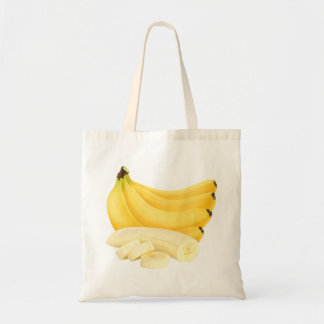 Cut banana bunch budget tote bag