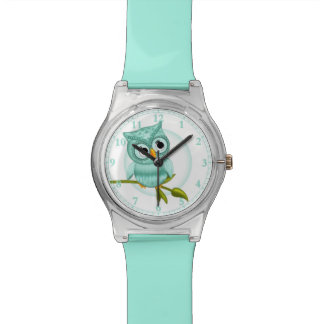 Cut Blue Owl Wrist Watch #Accessory #Watches