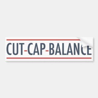 Cut Cap Balance Bumper Sticker
