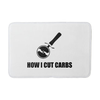 Cut Carbs Pizza Cutter Bath Mat