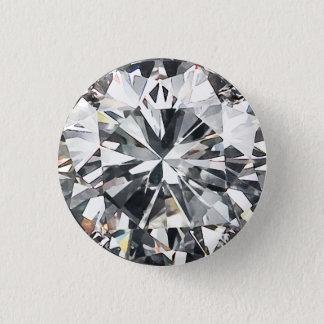 Cut Diamond 1 Inch Round Button