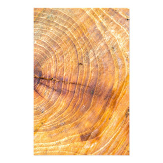 Cut down a tree with annual rings stationery