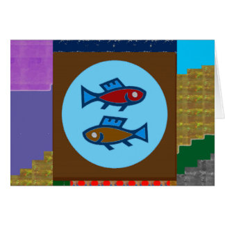 CUT FISH Cartoon KIDS Pet Greetings GIFTS Greeting Card