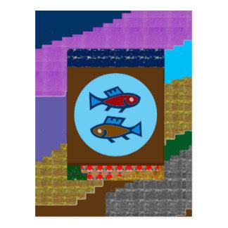 CUT FISH Cartoon KIDS Pet Greetings GIFTS Postcards