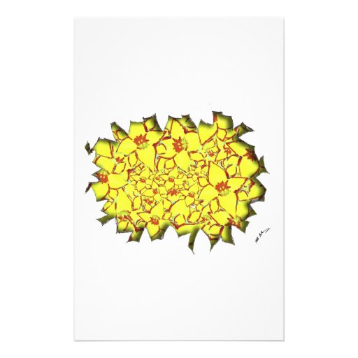 Cut Flowers Yellow Stationery Design