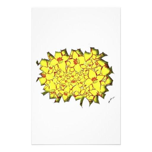 Cut Flowers Yellow Stationery Design
