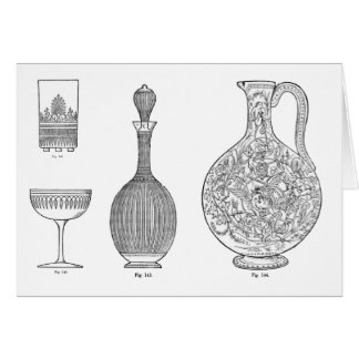 Cut Glass designs 1 by Dr Christopher Dresser Greeting Card