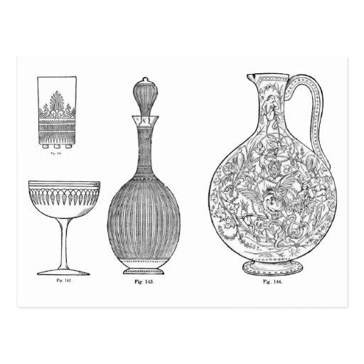 Cut Glass designs 1 by Dr Christopher Dresser Postcard