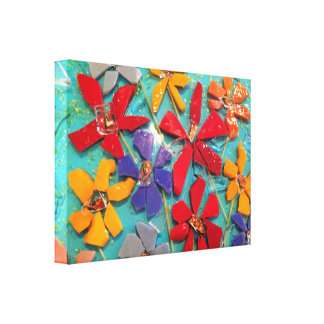 Cut-glass Flower Mosaic wrapped canvas Gallery Wrapped Canvas
