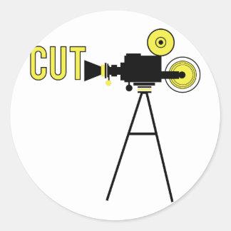 Cut Movie Round Sticker