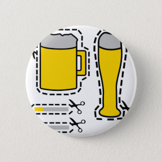 cut out beer and cigarets 2 inch round button