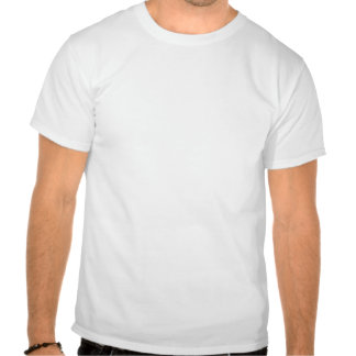 Cut out of a kettle bell on white background t shirt