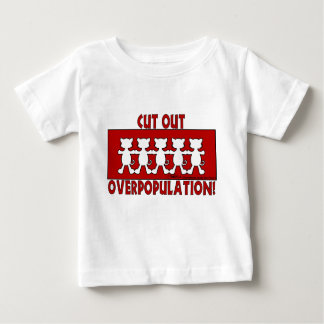 Cut Out Overpopulation! Cats Baby T-Shirt