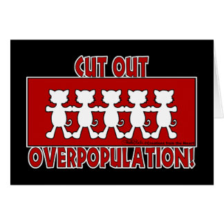 Cut Out Overpopulation! Cats Greeting Cards