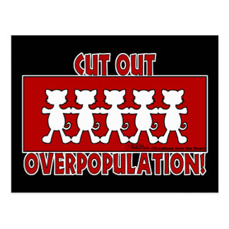 Cut Out Overpopulation! Cats Postcard