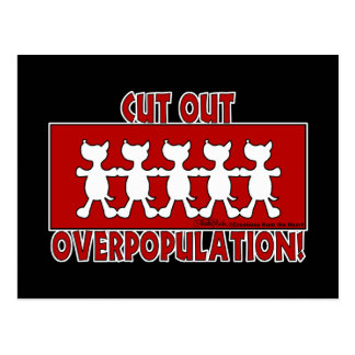 Cut Out Overpopulation! Dogs Postcards