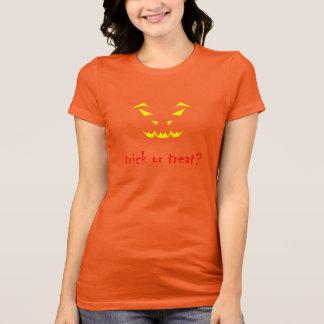 Cut-out scary pumpkin for Halloween T-Shirt
