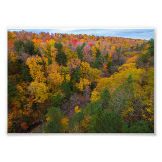 Cut River valley, Fall, Michigan Photographic Print