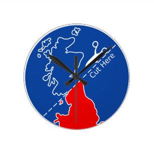 Cut Scotland from Britain Round Clock