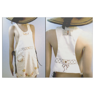 Cut & Sew Fashion- Vintage embroiderd BOHO Apron Fabric