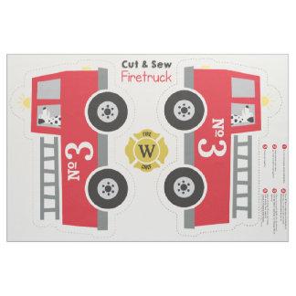 Cut & Sew Firetruck Fabric
