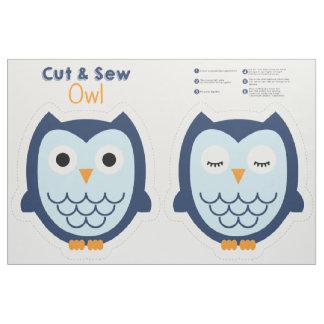 Cut & Sew Owl - Blue Fabric