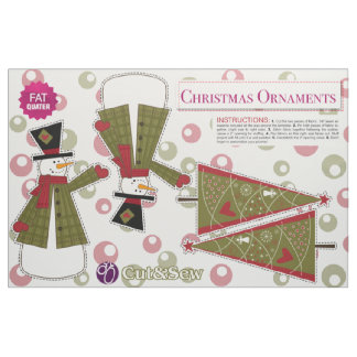 Cut & Sew Vintage Christmas Ornaments - DIY Plush Fabric