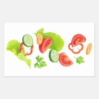 Cut vegetables sticker