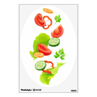 Cut vegetables wall decal