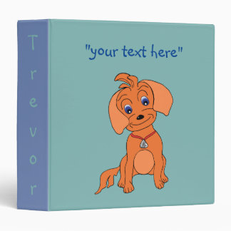 "Cute 1.5"" Binder for Kids & Dogs - Happy"