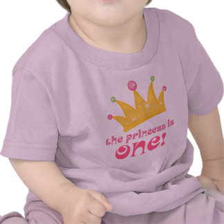 Cute 1st Birthday The Princess Is One Gift Tshirts