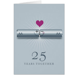 Cute 25th Wedding Anniversary Card