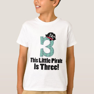 Cute 3rd Birthday Pirate T-Shirt