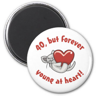 Cute 40th Birthday Gifts 2 Inch Round Magnet
