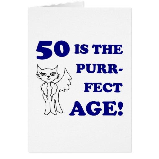 Cute 50th Birthday Present Greeting Cards