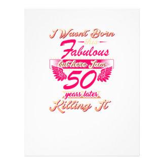Cute 50th year birthday party gift tshirt letterhead