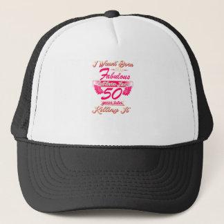 Cute 50th year birthday party gift tshirt trucker hat