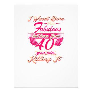 Cute 65th year birthday party gift tshirt letterhead