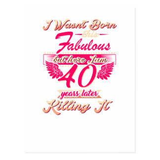 Cute 65th year birthday party gift tshirt postcard
