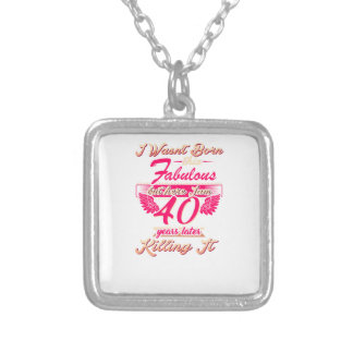 Cute 65th year birthday party gift tshirt silver plated necklace