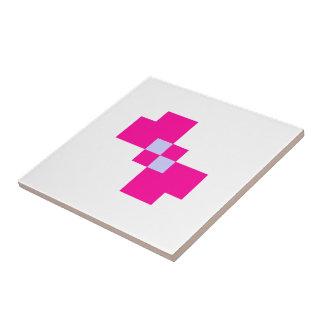 Cute 8 Bit Pixel Bow Ceramic Tile