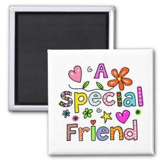 Cute A Special Friend Greeting Text Expression Magnet