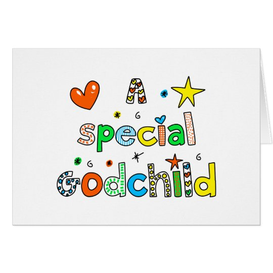 Cute A Special Godchild Text Expression Card